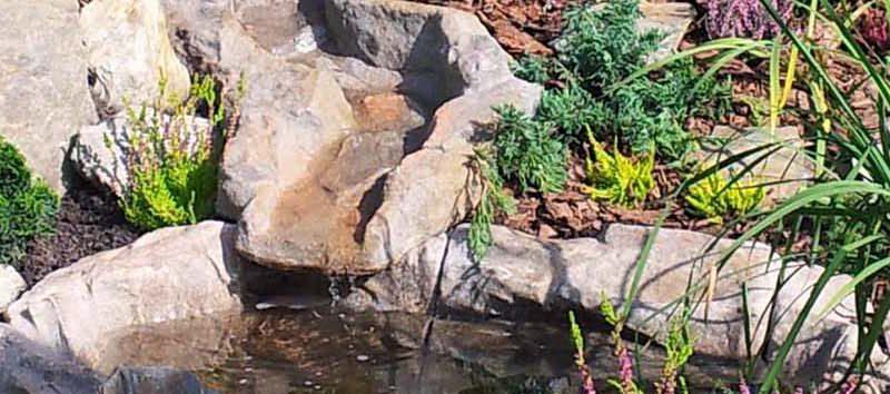 Granit w architekturze ogrodowej – oczka wodne